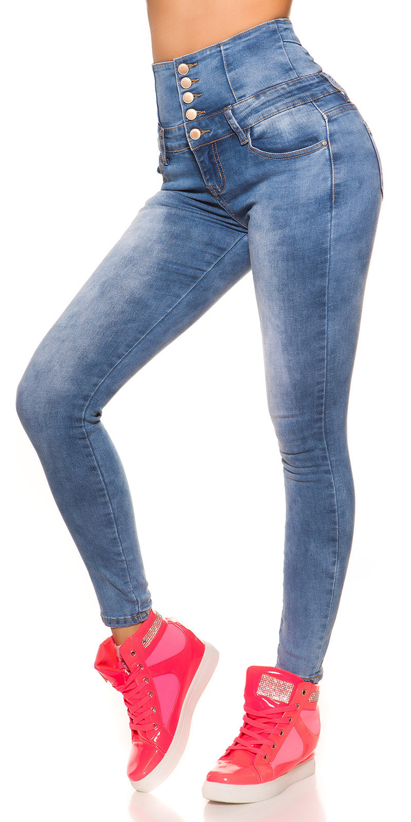 Sexy High Waist Skinny Jeans Jeansblue