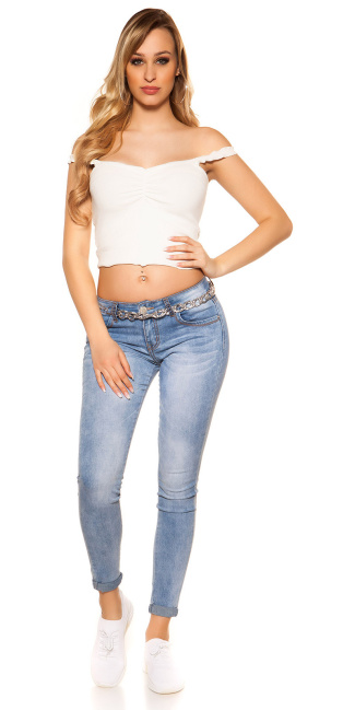 Lightwashed Summer Skinny Jeans Jeansblue