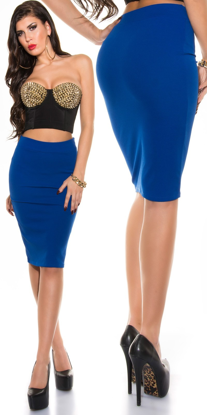 Sexy KouCla pencil skirt Royalblue