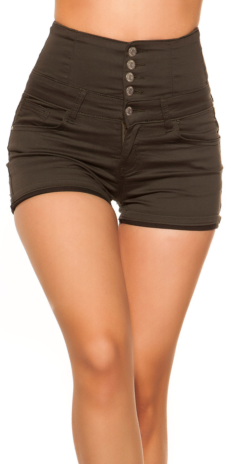 Sexy hoge taille jeans shorts khaki