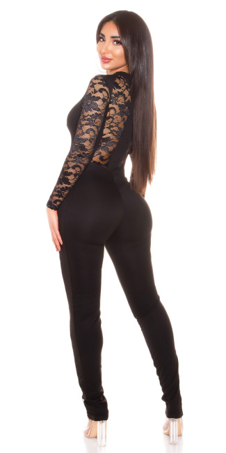 Sexy Catsuit with sexy lace Black