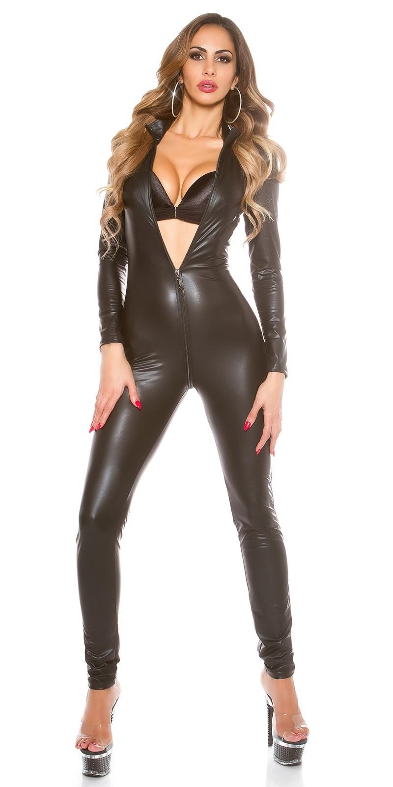 Sexy Jumpsuit met 2-Way Rits Zwart