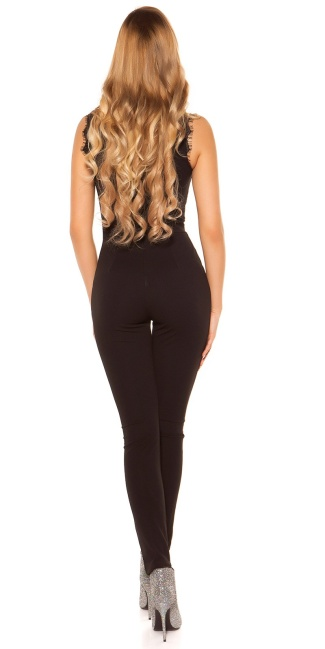 Sexy jumpsuit with lace Black