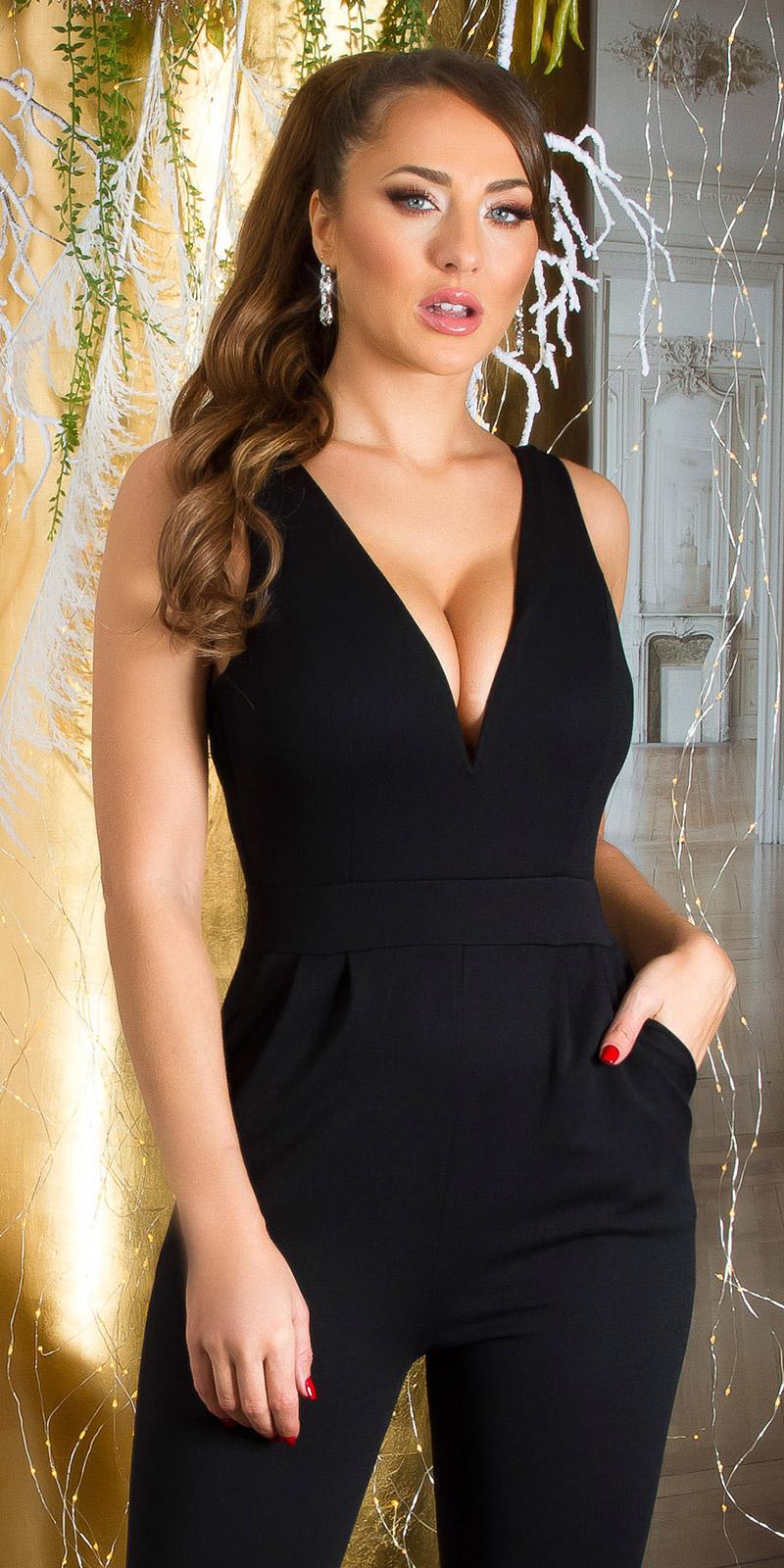 Sexy jumpsuit zwart
