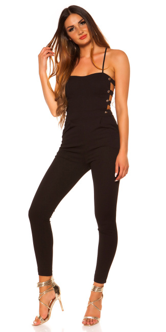 Sexy Koucla jumpsuit with sexy insights Black