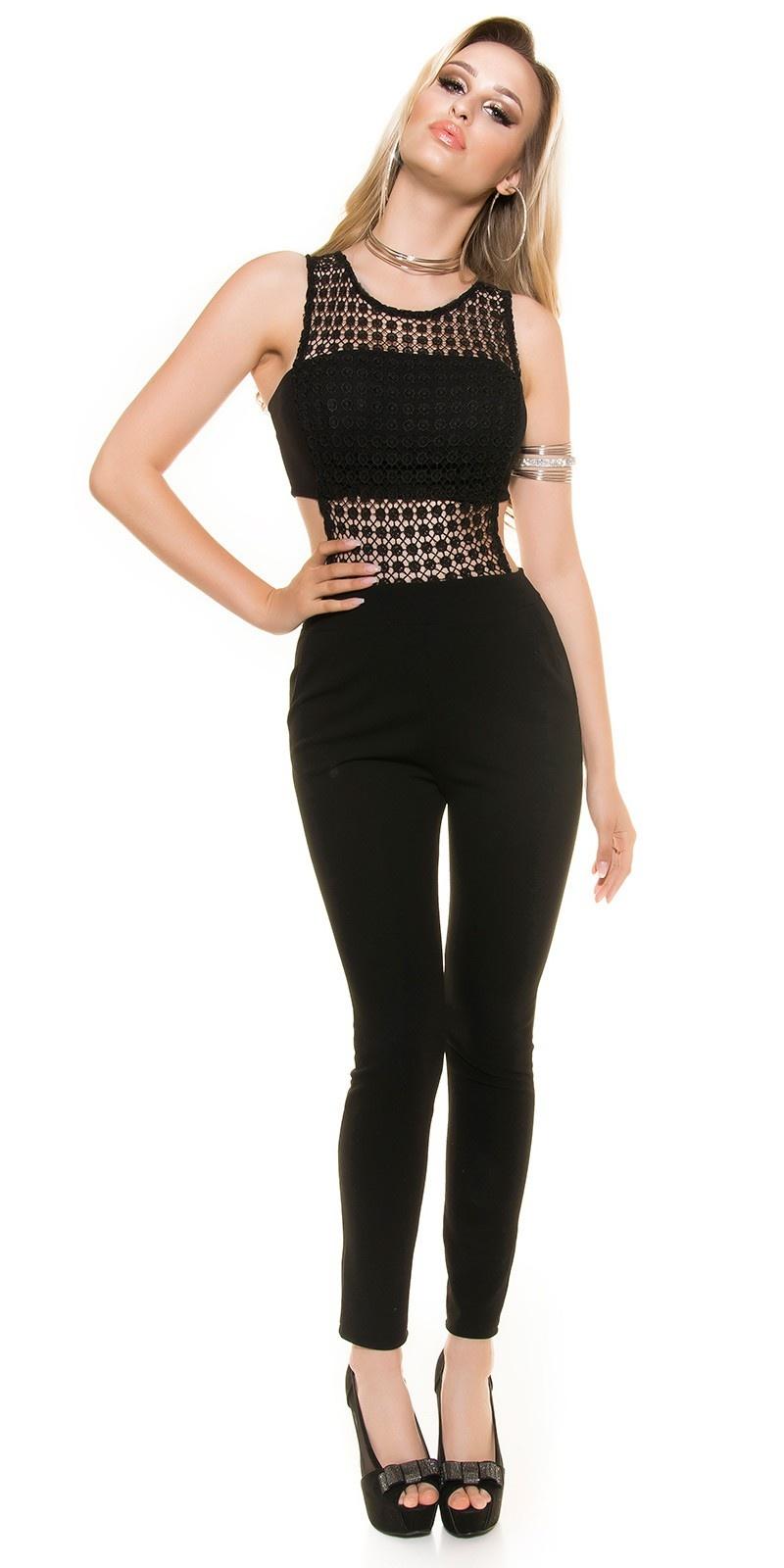 Sexy jumpsuit met kant taylor s. look! zwart