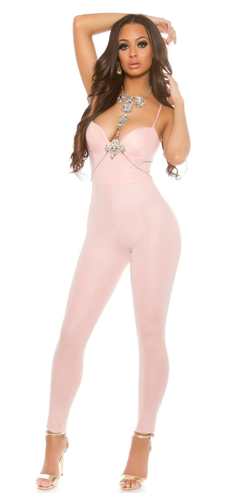 Sexy KouCla Bustier Look jumpsuit Antiquepink