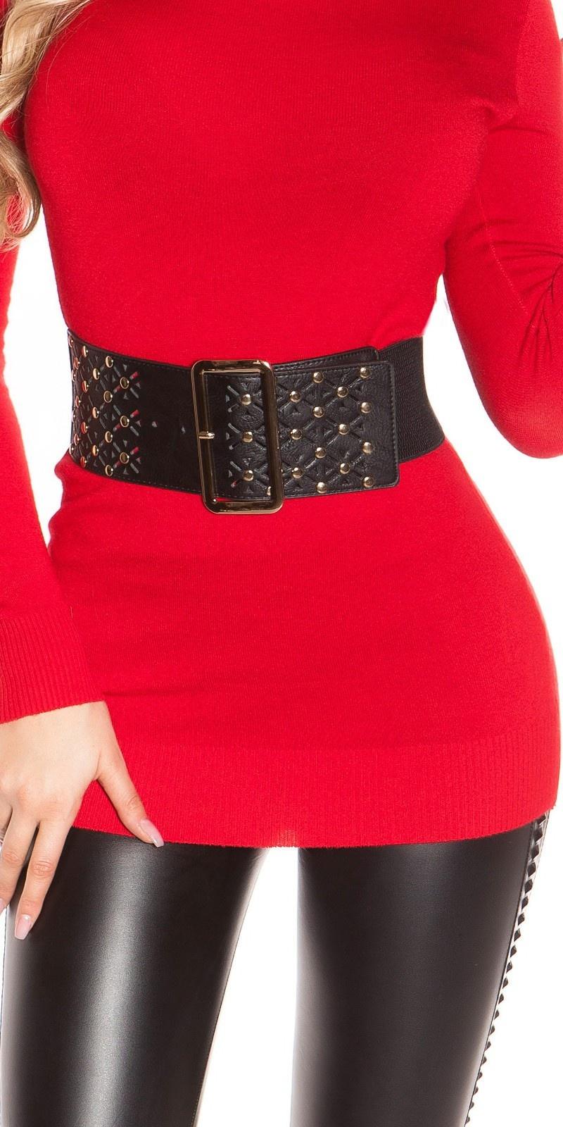 Sexy waist belt with studs Black