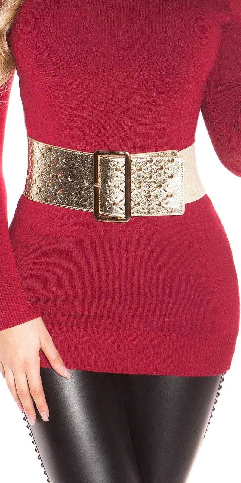 Sexy waist belt with studs Gold