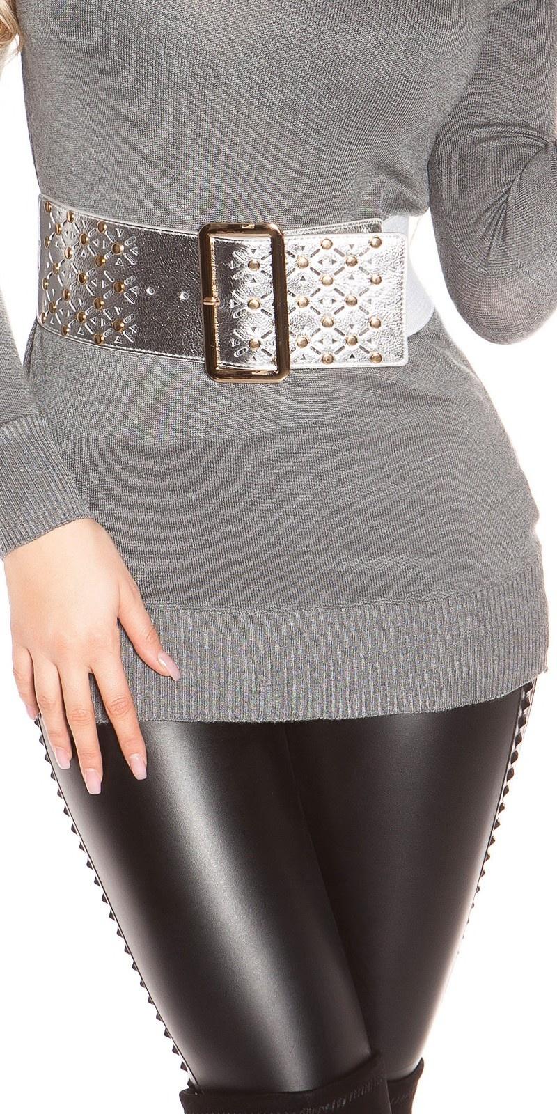 Sexy waist belt with studs Silver