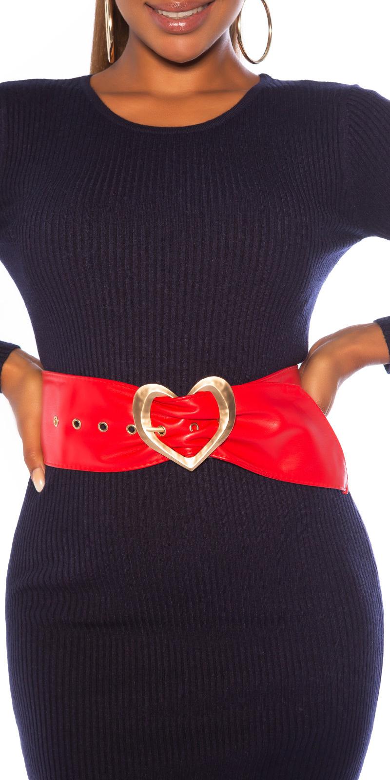 Sexy riem met hart gesp rood