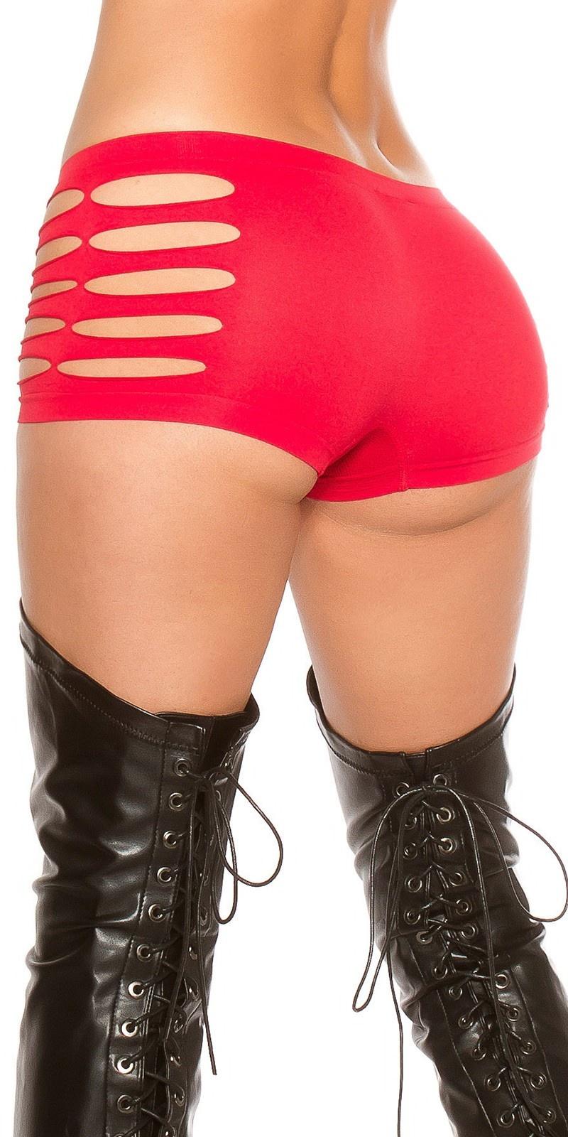 Sexy panties met uitsparingen rood