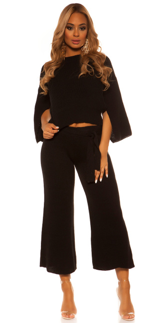 Sexy KouCla Set short jumper /pants WITH belt Black