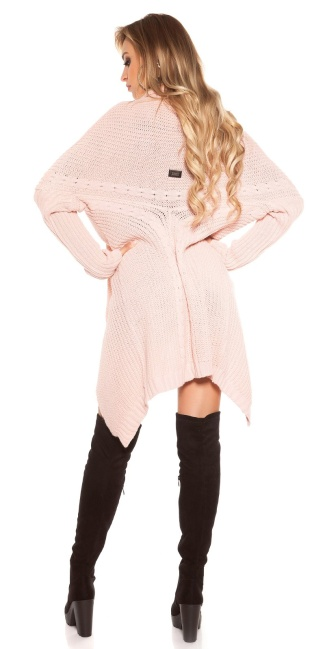 Trendy KouCla cardigan XL collar Pink