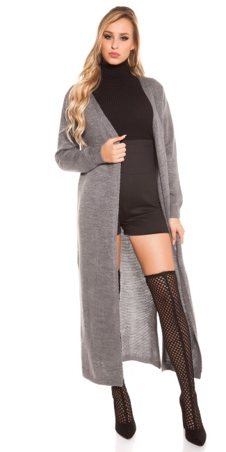 Trendy Koucla knitting coat Grey