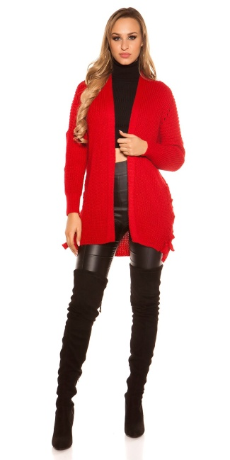 Sexy KouCla cardigan with lacing Red