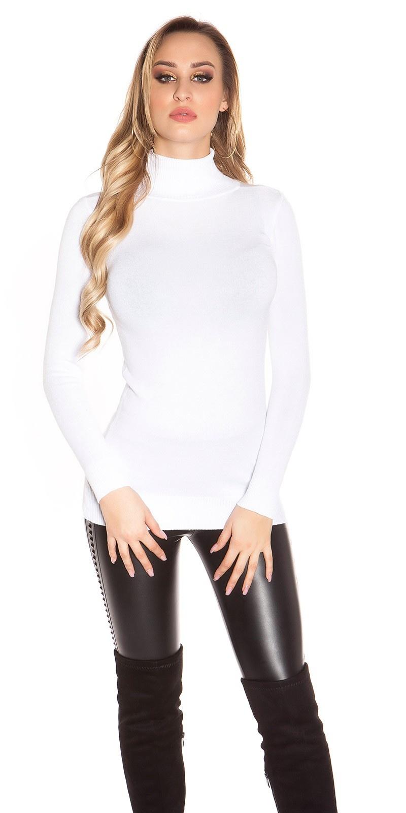 Sexy turtleneck longsweater Cream