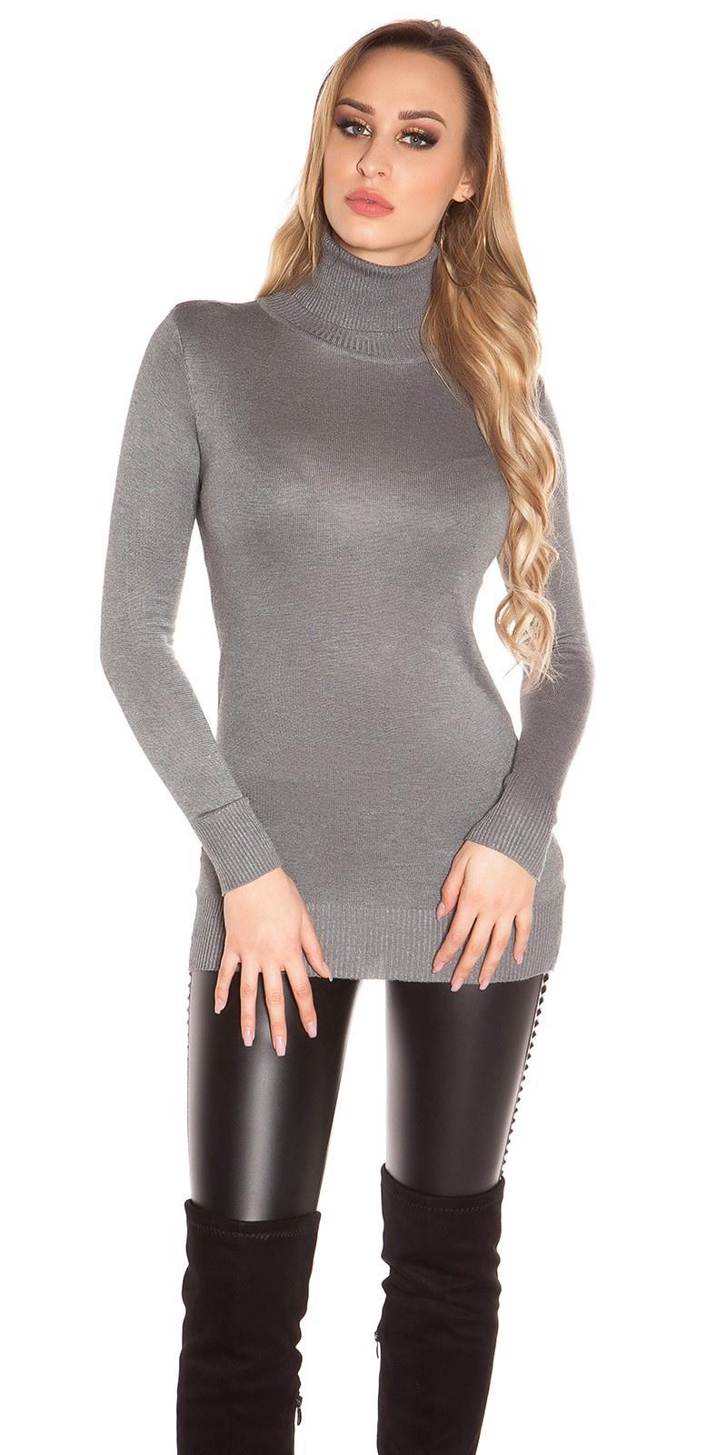 Sexy turtleneck longsweater Grey