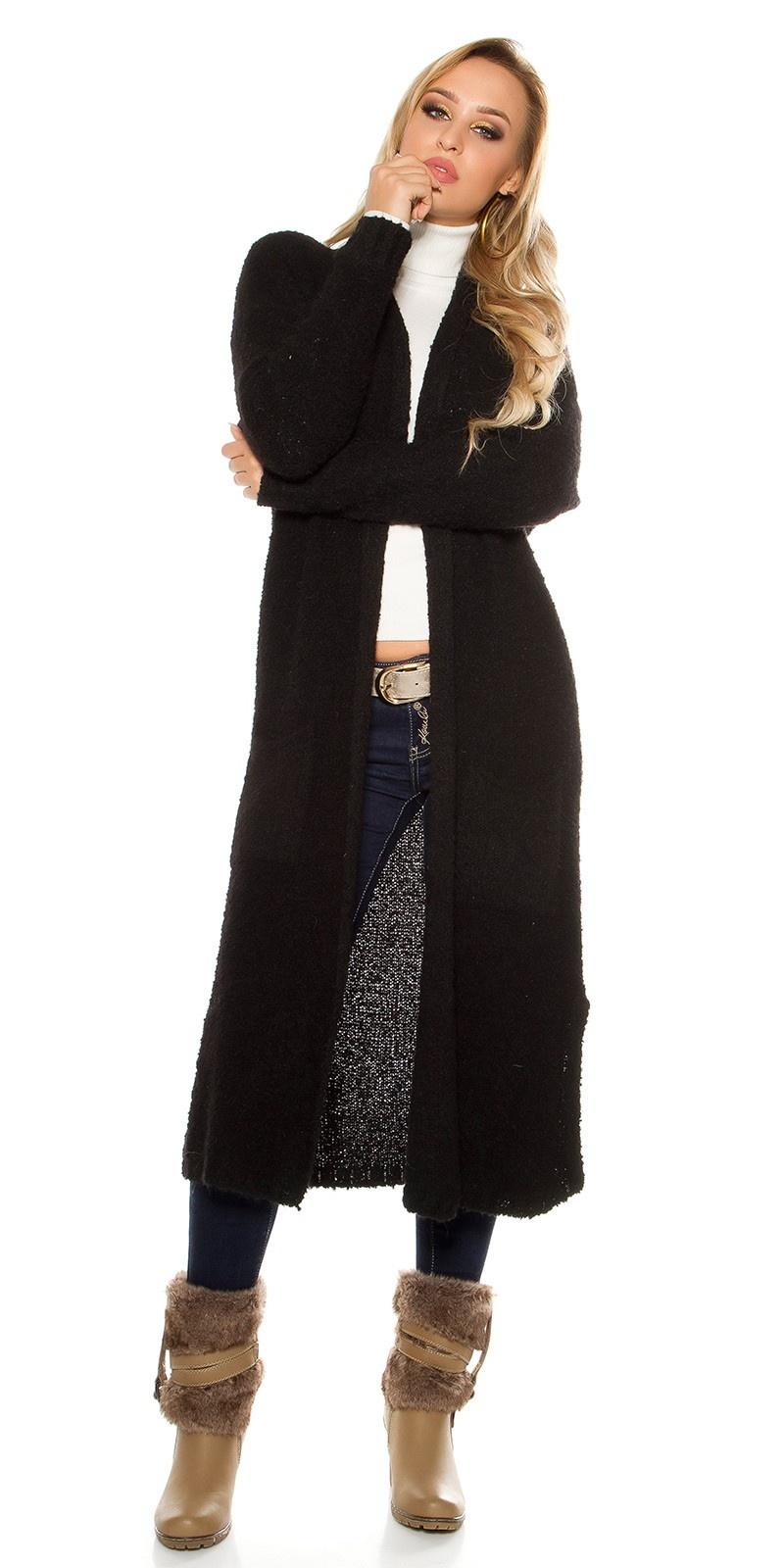 Trendy Boucle mohair cardigan Black