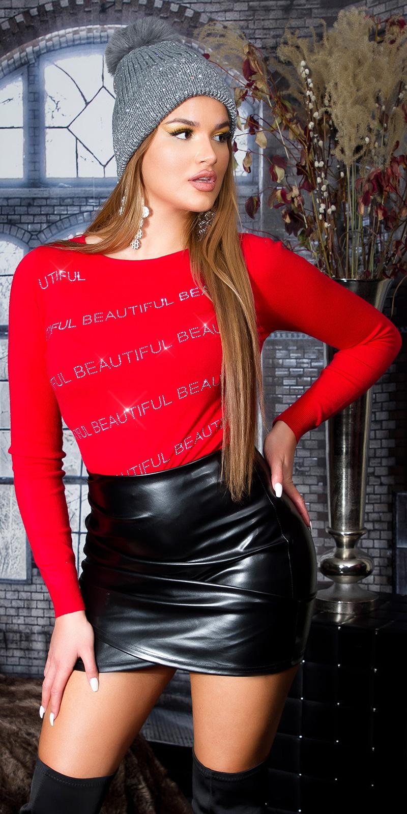 Trendy be beautiful sweater-trui rood