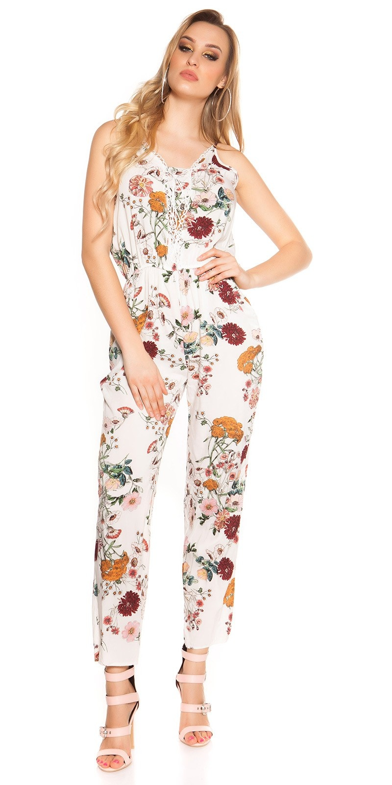 Sexy long summer jumpsuit Coachella-Style White