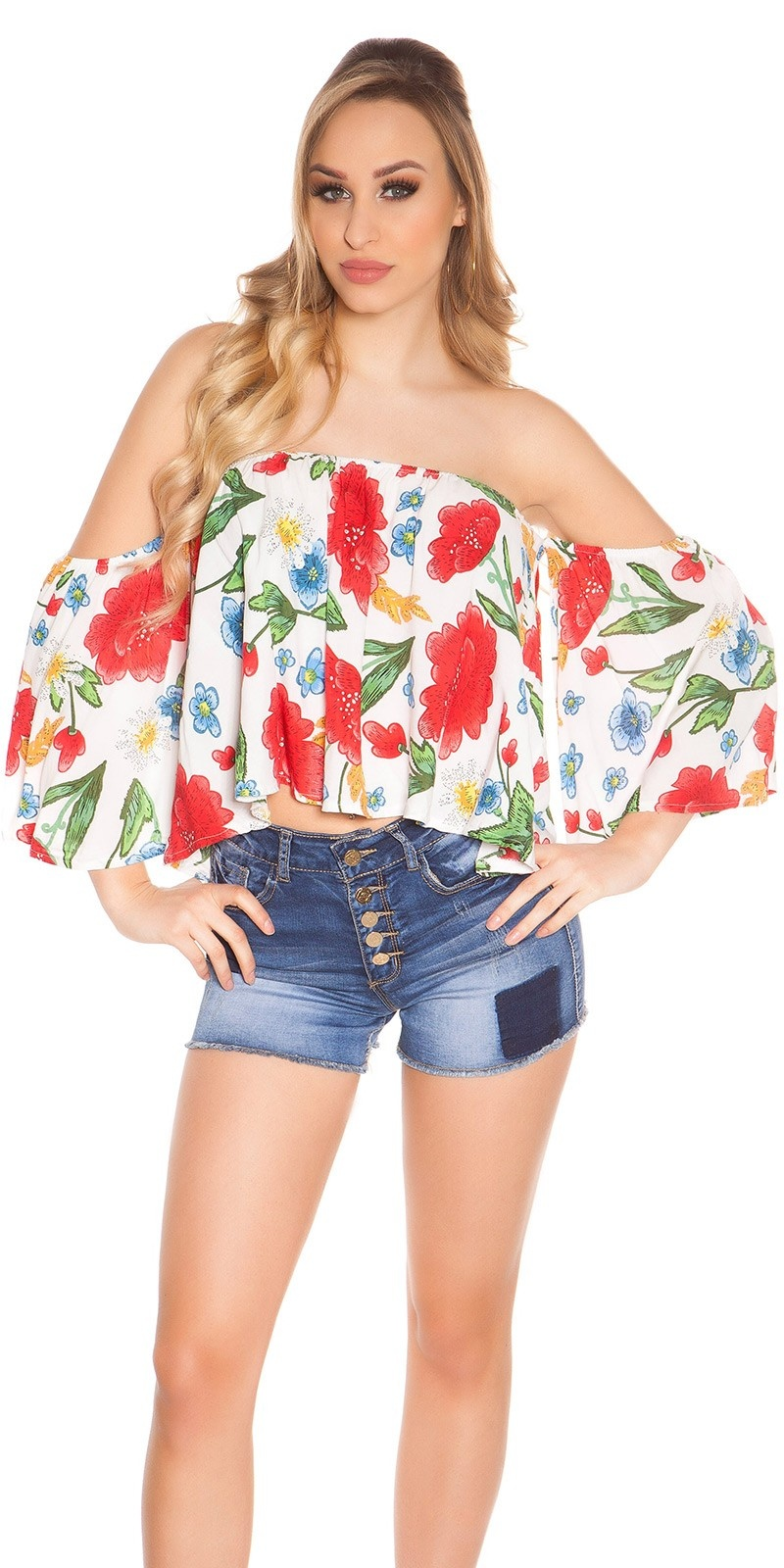 Sexy offshoulder top coachella-style wit