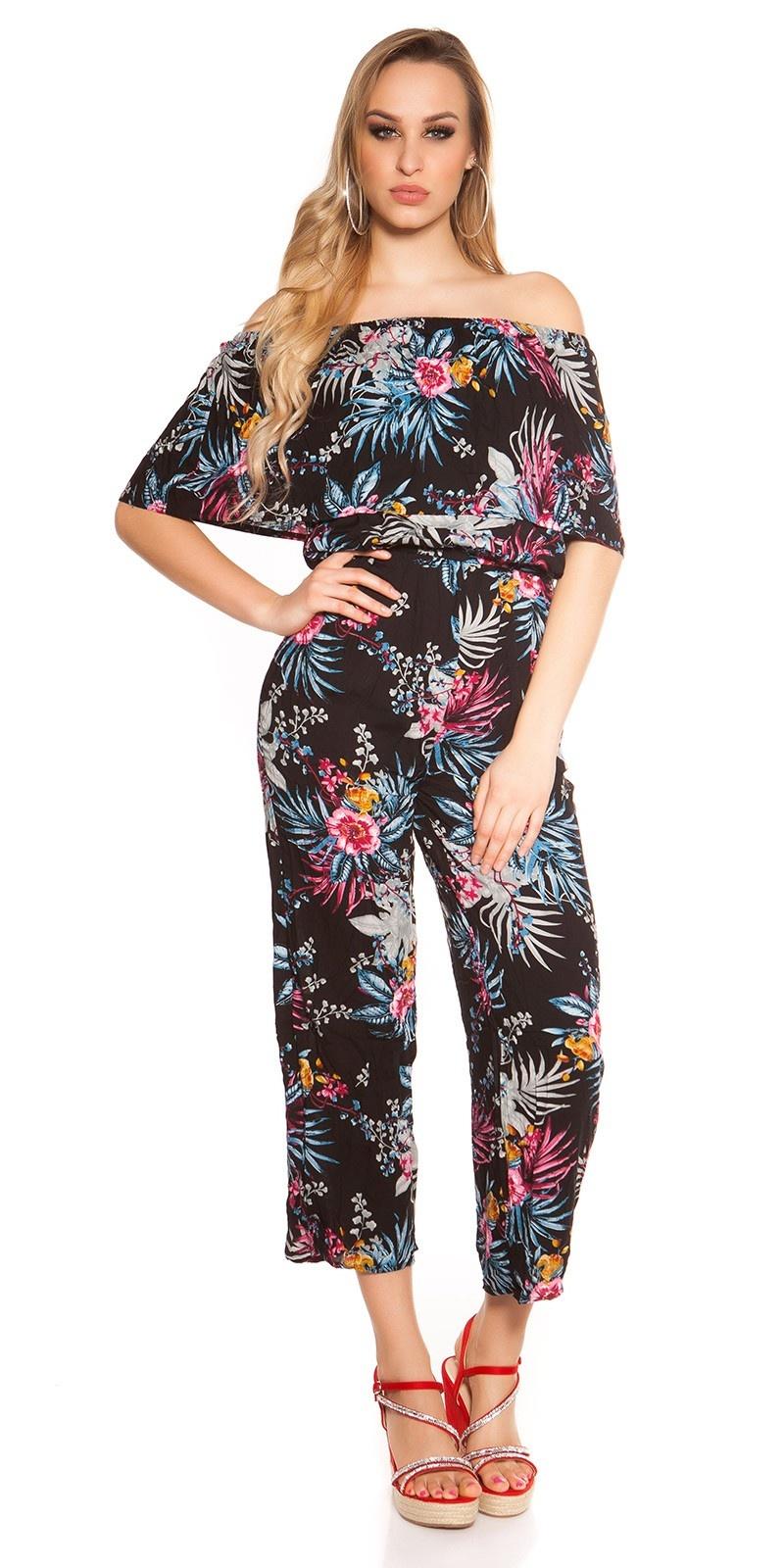 Sexy lange zomer jumpsuit coachella-style zwartblauw