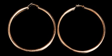 Sexy XL hoops with pattern Gold