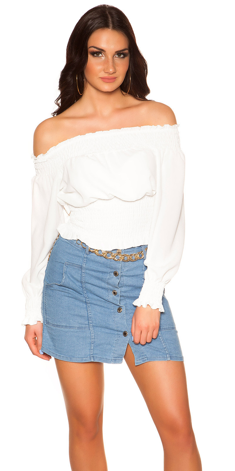 Sexy off shoulder shirt wit