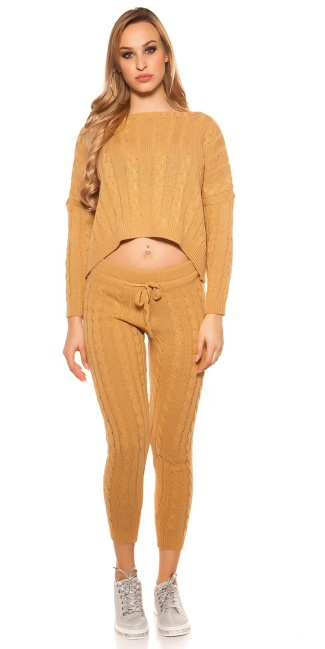 Trendy Roughknit home suit (SET Jumper & Pants!) Mustard
