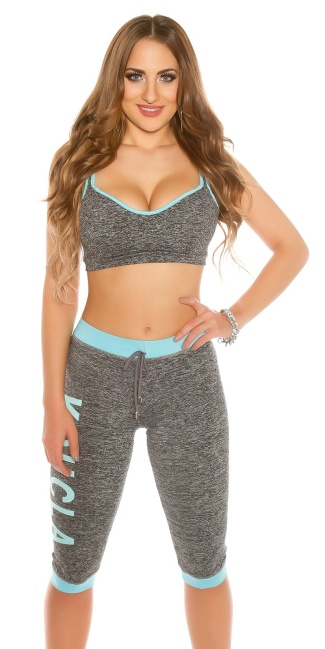 Trendy KouCla Workout Outfit Turquoise