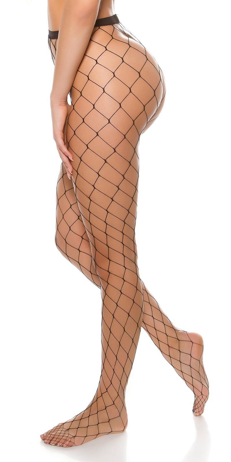 Sexy visnet stockings zwart