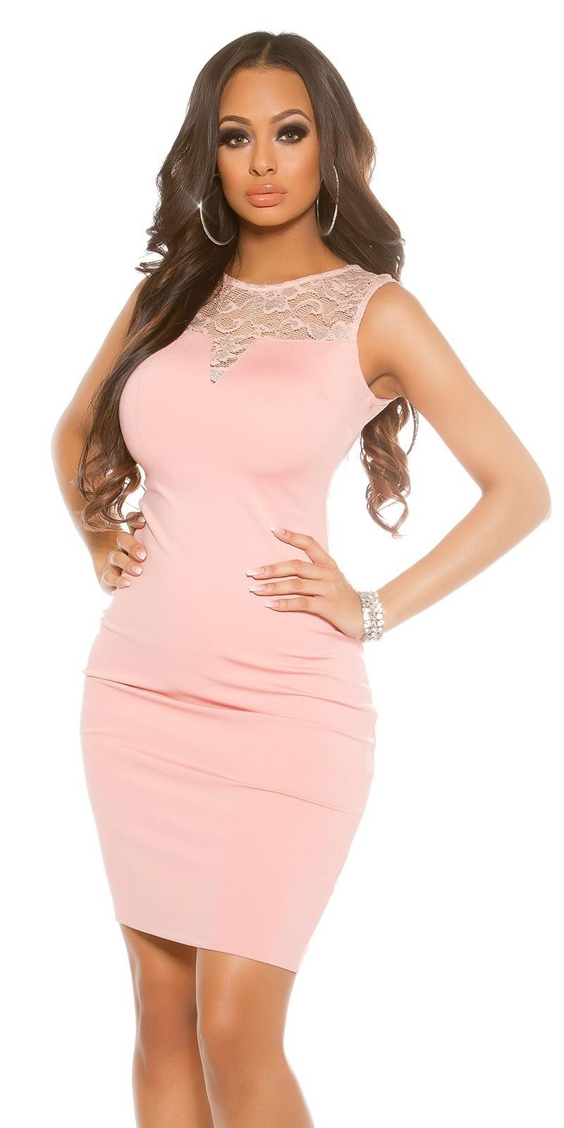 Sexy jurk met kant antiekroze