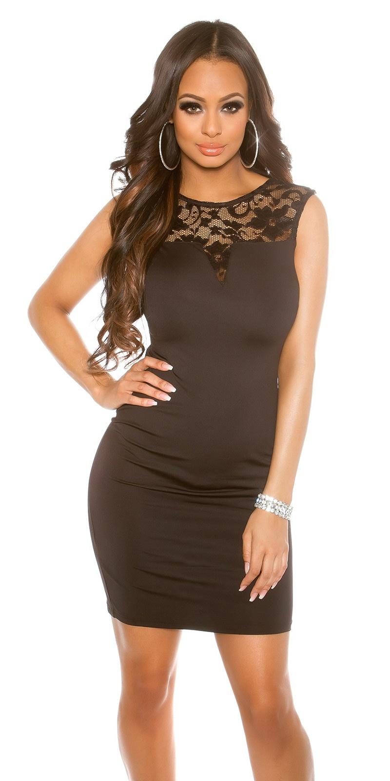 Sexy jurk met kant zwart