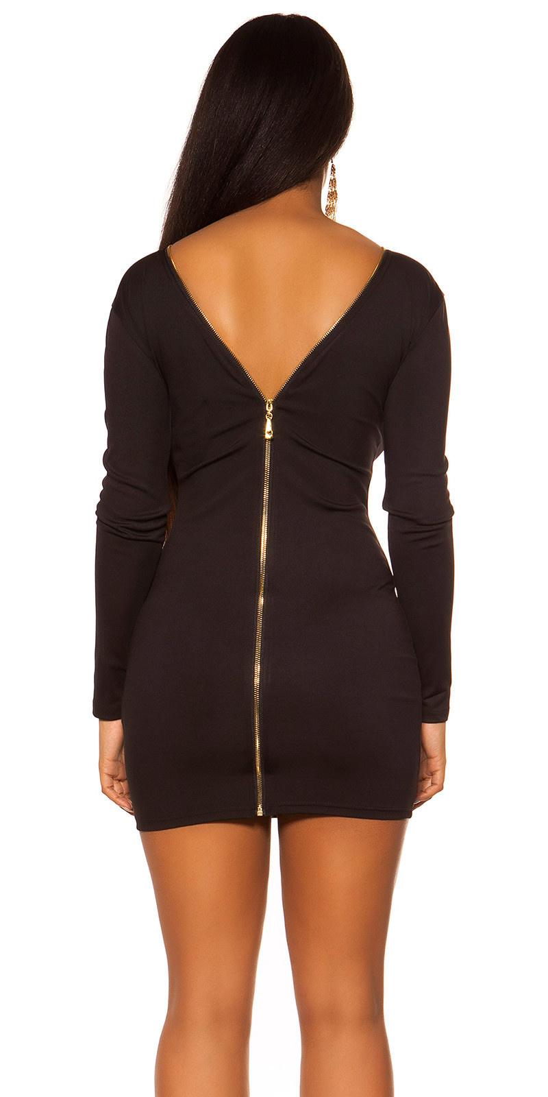 Sexy KouCla Sheath Dress with back zipper Black