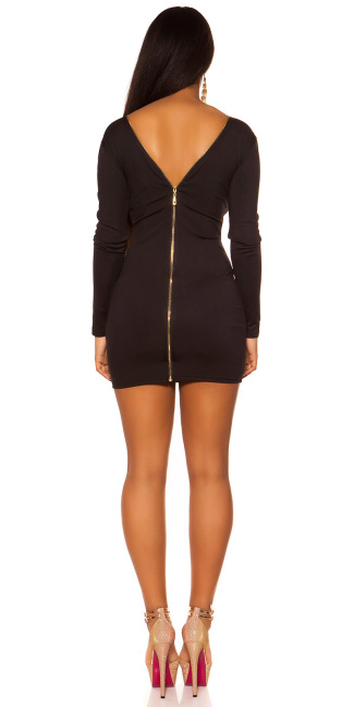 Sexy KouCla Sheath Dress with back zipper Black