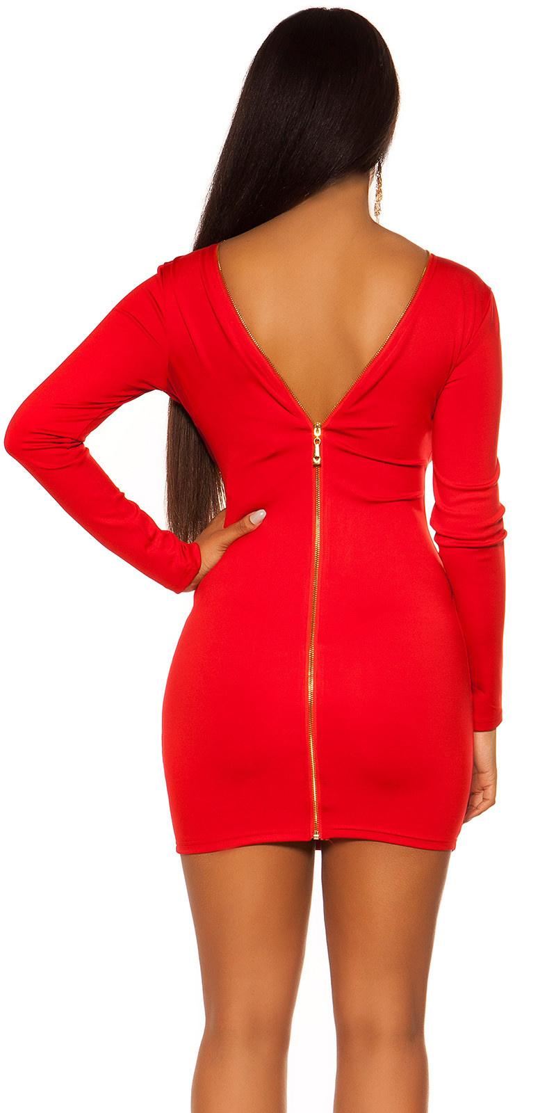 Sexy jurk met rug ritssluiting rood