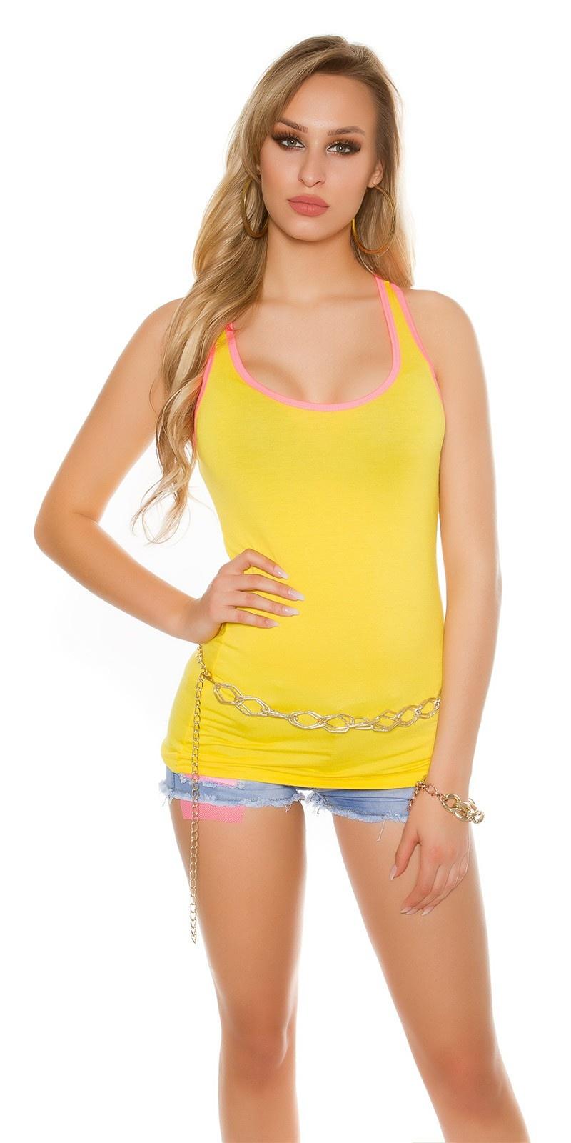 Sexy KouCla Tanktop Yellow