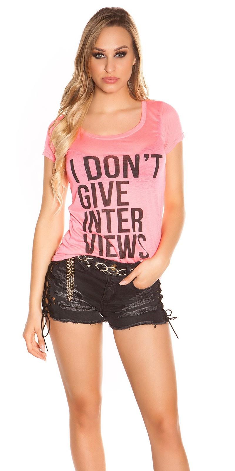 Sexy shirt i dont give interviews neonfuchsiaroze