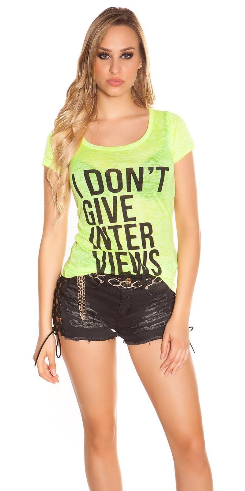 Sexy shirt i dont give interviews neon neongeel