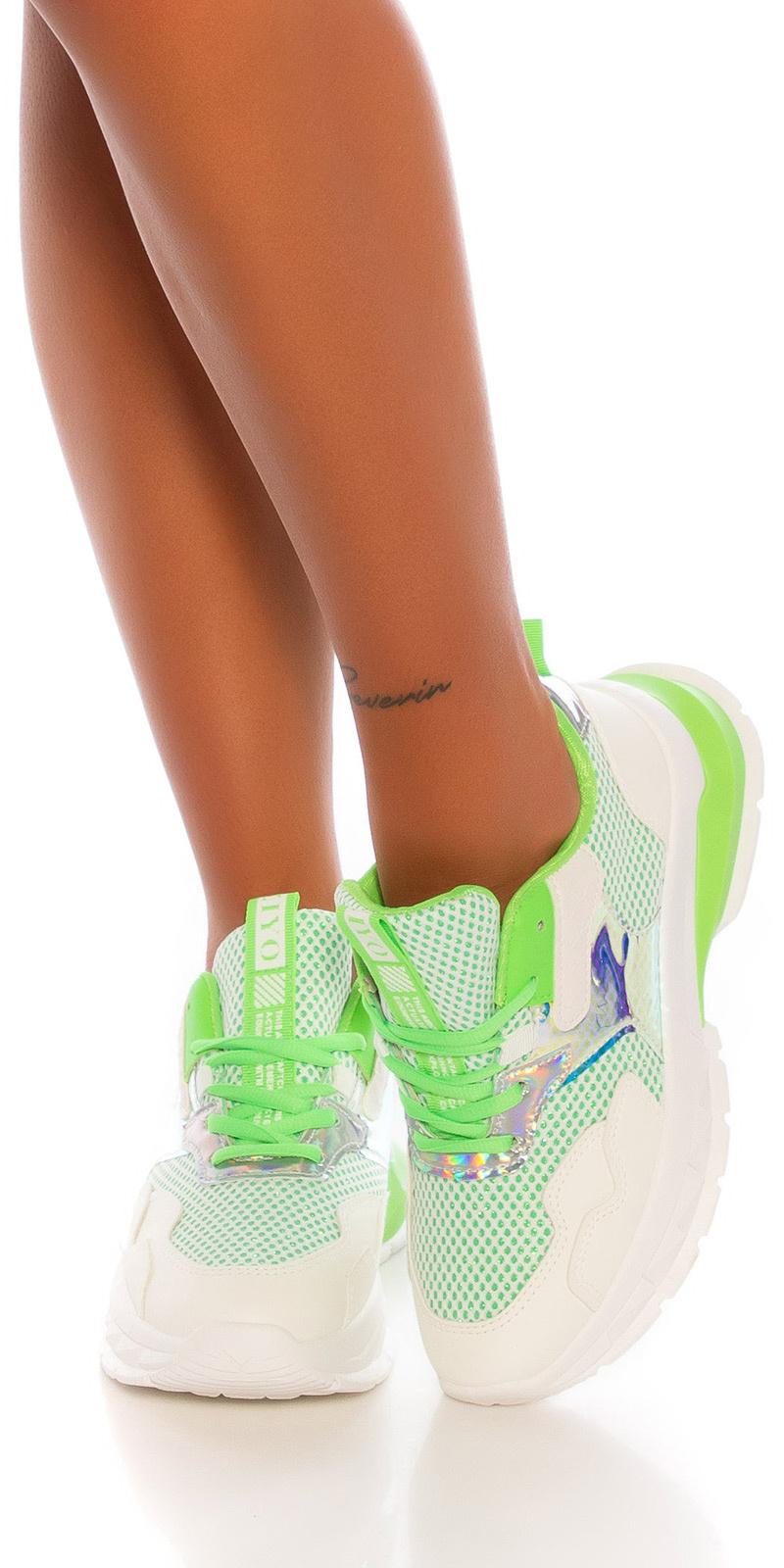 Trendy chunky sneakers groen