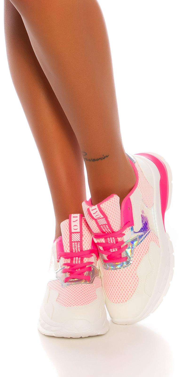 Trendy chunky sneakers roze