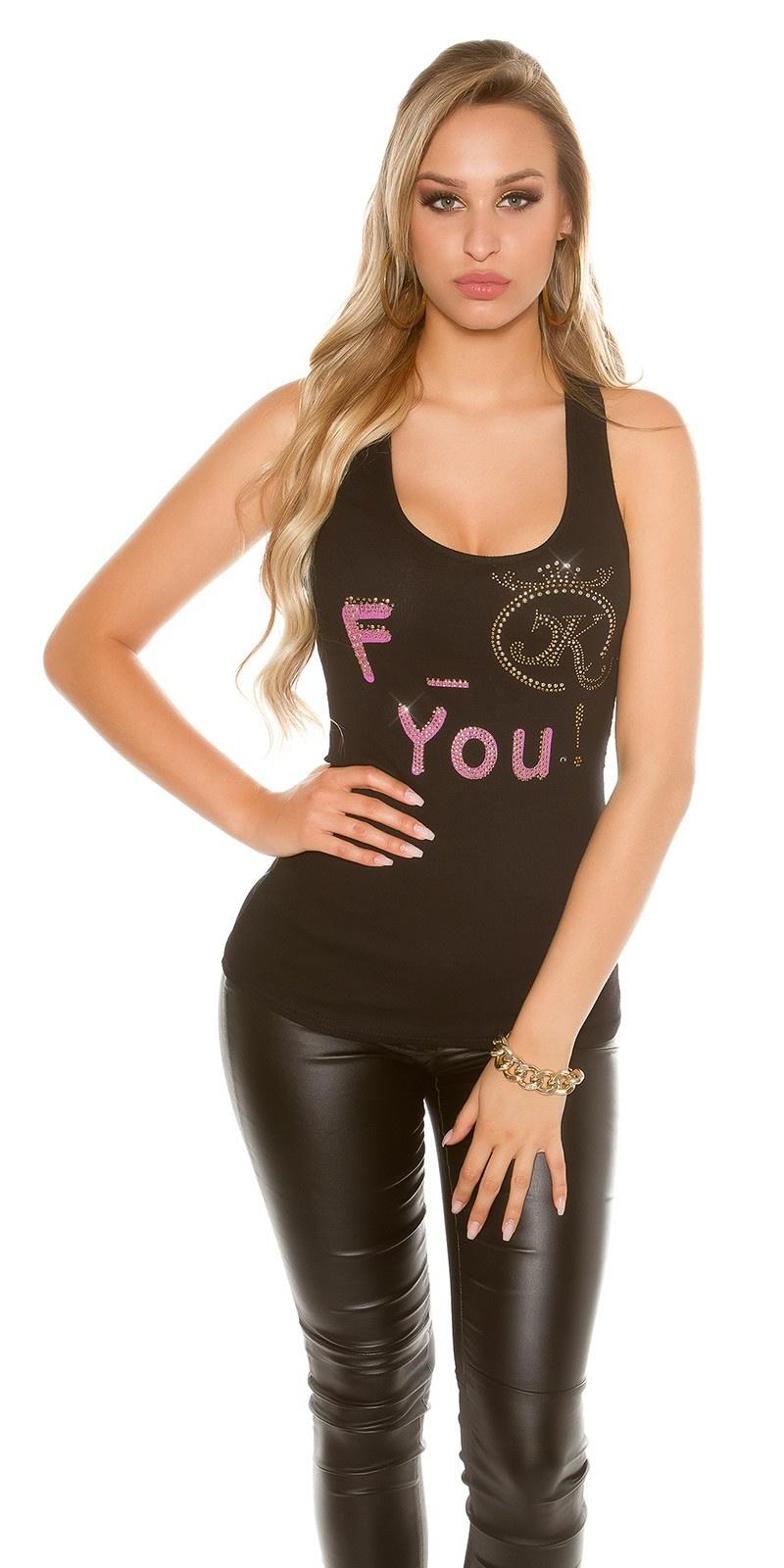 Sexy KouCla F_ck you! Tanktop Black