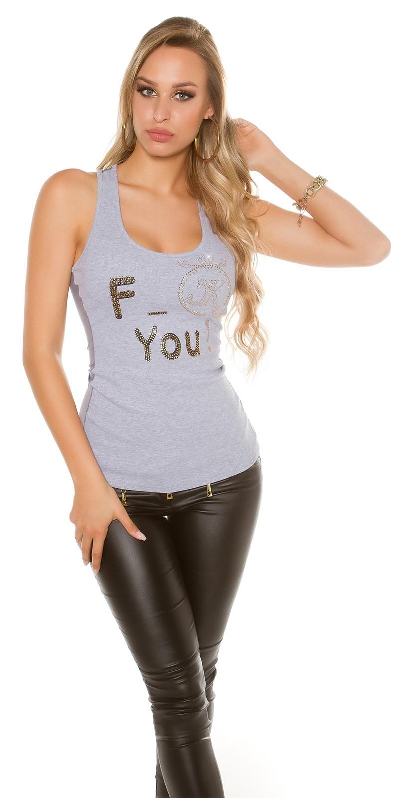 Sexy f_ck you! tanktop grijs