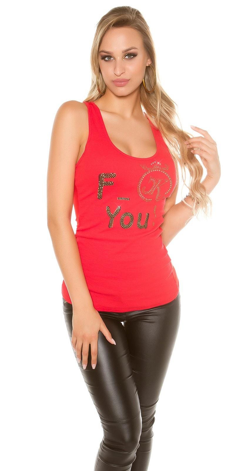 Sexy KouCla F_ck you! Tanktop Red