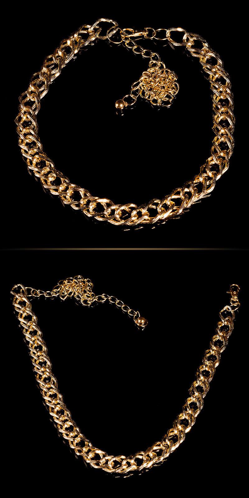 Trendy kettingriem goud