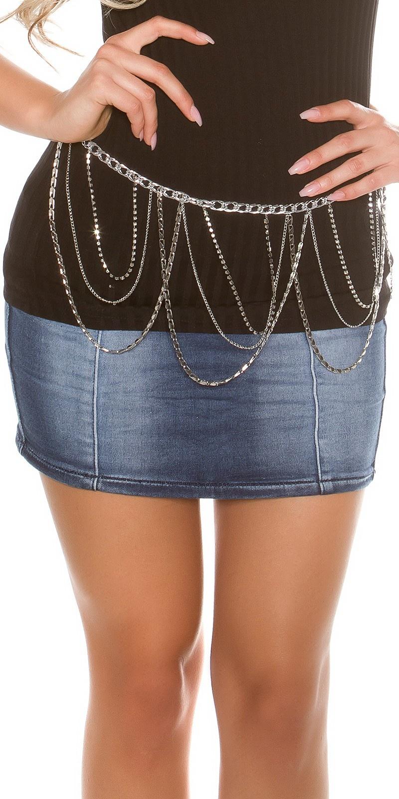 Trendy chain belt Silver