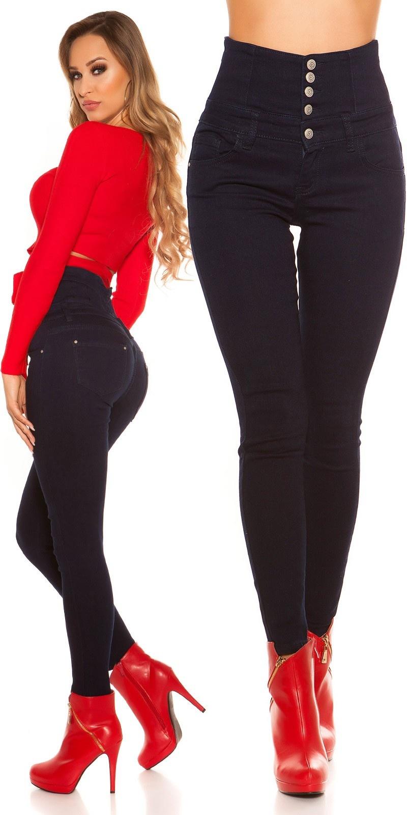 Sexy High Waist Skinny Jeans Darkblue