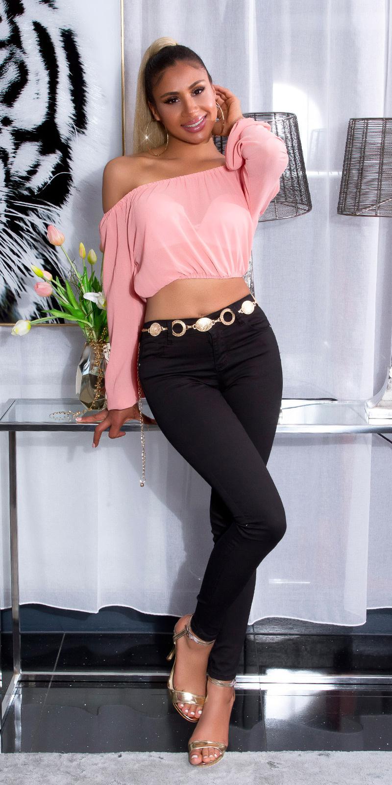 Sexy hoge taille zomer skinny jeans zwart