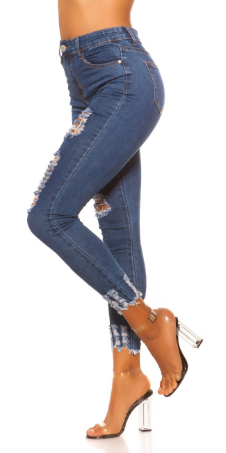 Sexy Skinny Jeans Used Look Jeansblue